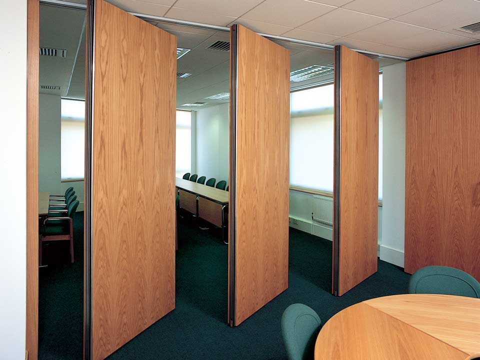 Bifold exterior doors and movable room dividers folding for Door in the wall