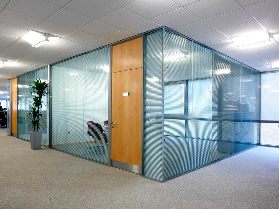 Glass office doors partition walls Interior glass partition systems