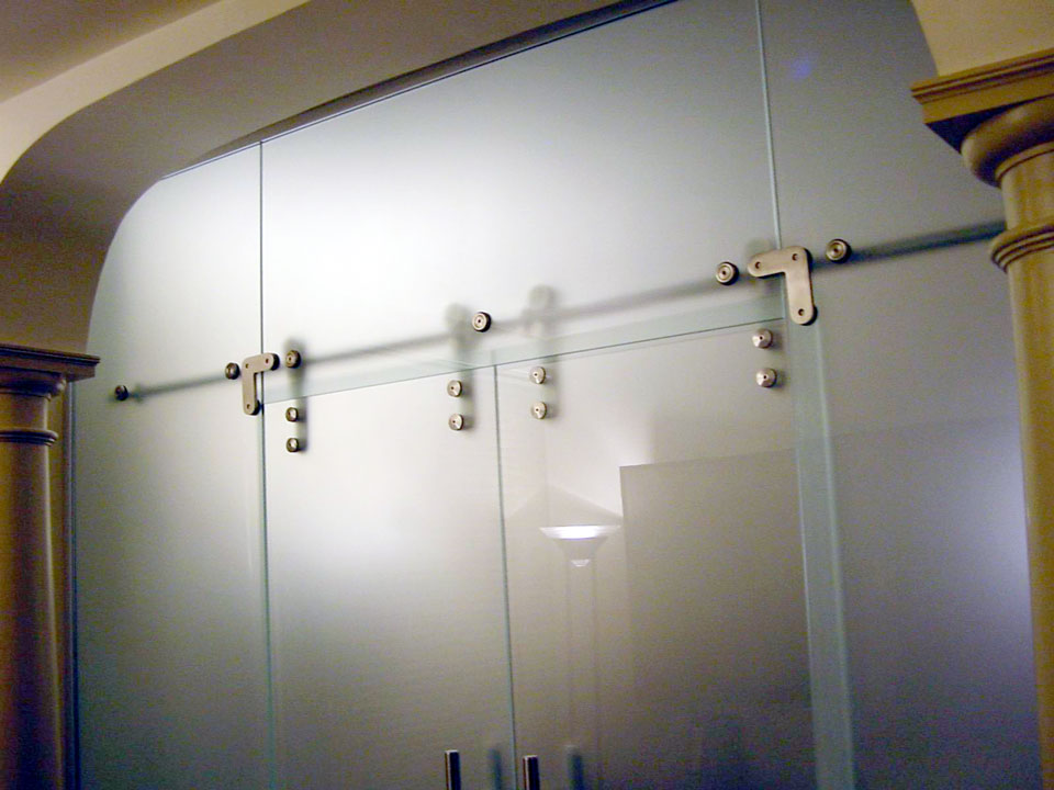 Glass Commercial Doors And Wall Panels Office Partition
