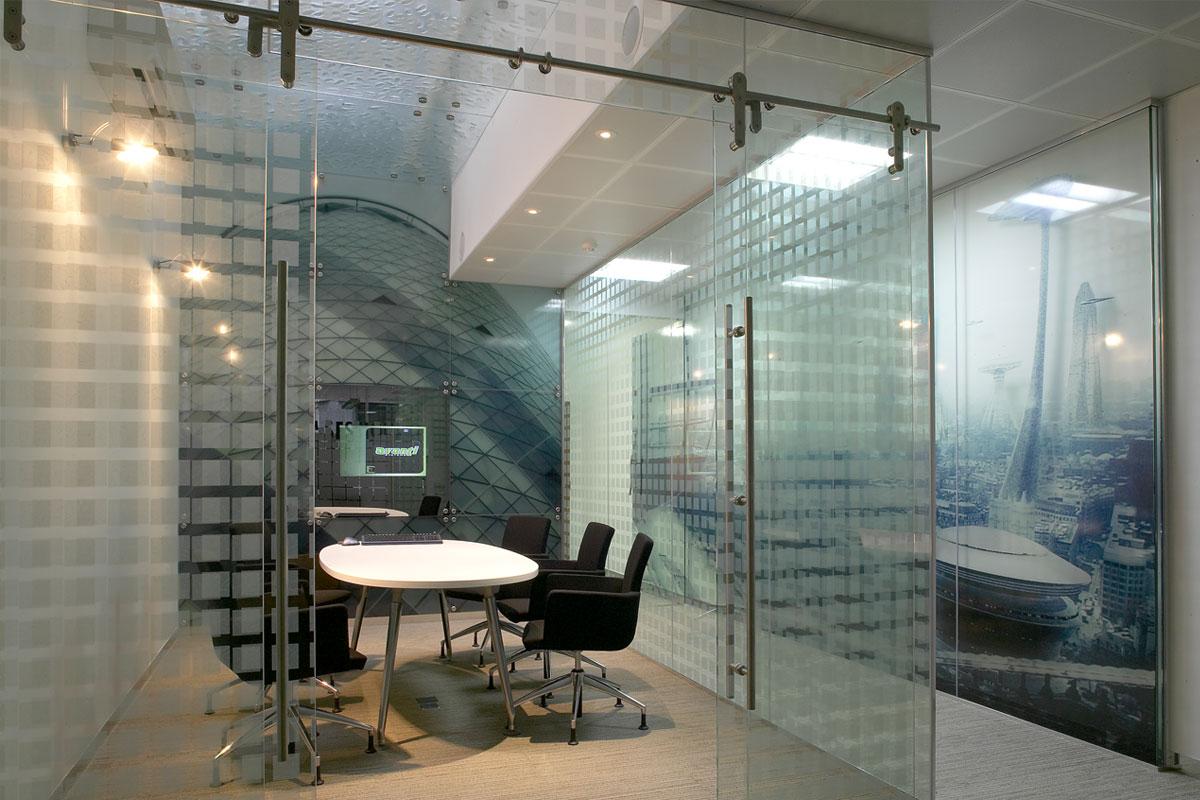 Commercial interior glass door - Glass Walls
