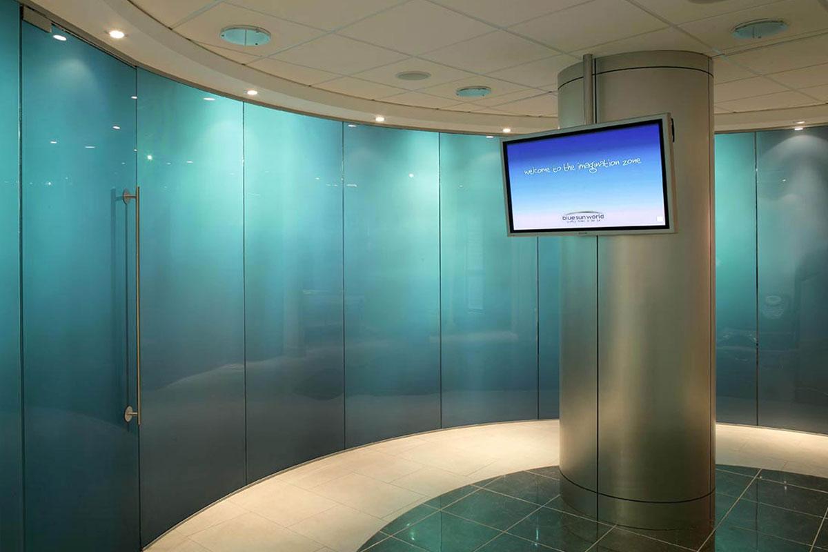 Frameless glass interior doors - Pivot Frameless Swing Door Gallery 5
