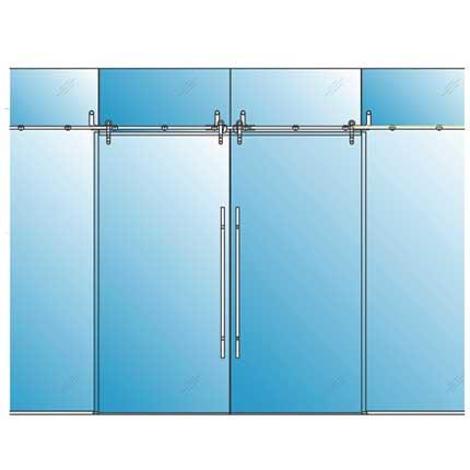 Rail sliding barn glass doors avanti systems usa for Barn doors over sliding glass doors